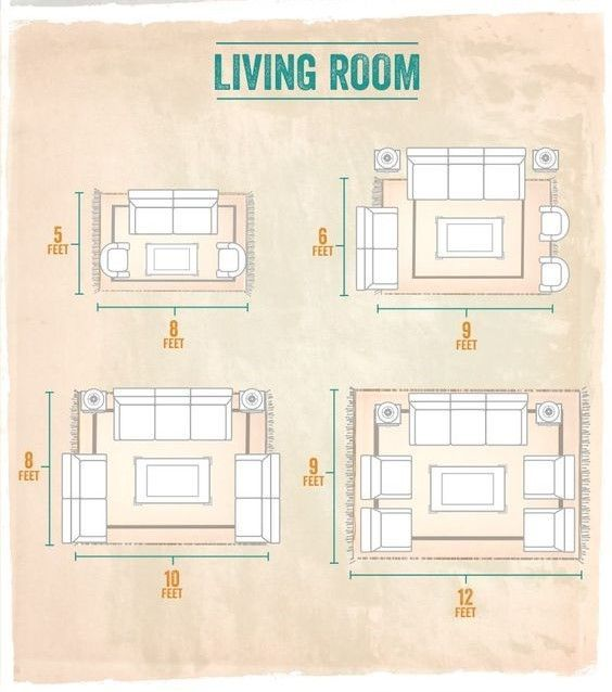 area rug size guide living room