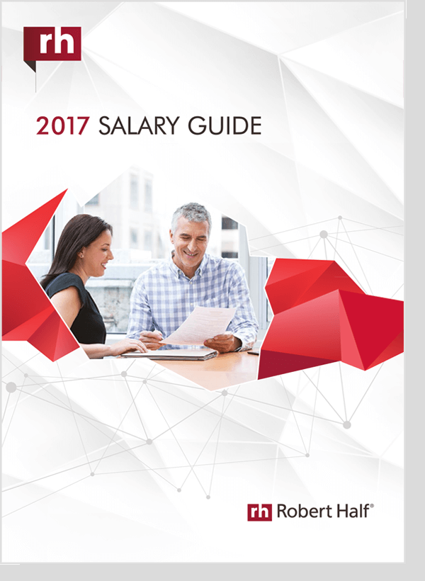 robert half it salary guide 2017